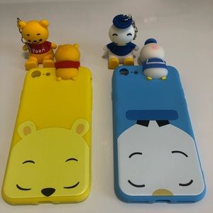 Two IPhone 8 Disney Phone cases with Charms!